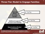 three tier model to engage families