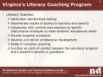 virginia s literacy coaching program