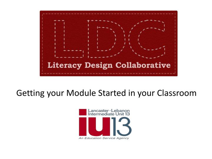 getting your module started in your classroom n.