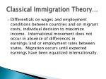 classical immigration theory1