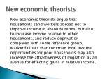 new economic theorists