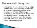 new economic theory cont