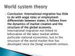 world system theory