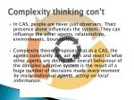 complexity thinking con t1