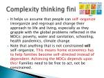 complexity thinking fini