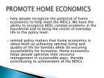promote home economics