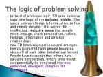 the logic of problem solving