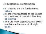 un millennial declaration