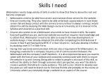 skills i need