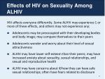 effects of hiv on sexuality among alhiv