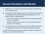 sexual orientation and identity