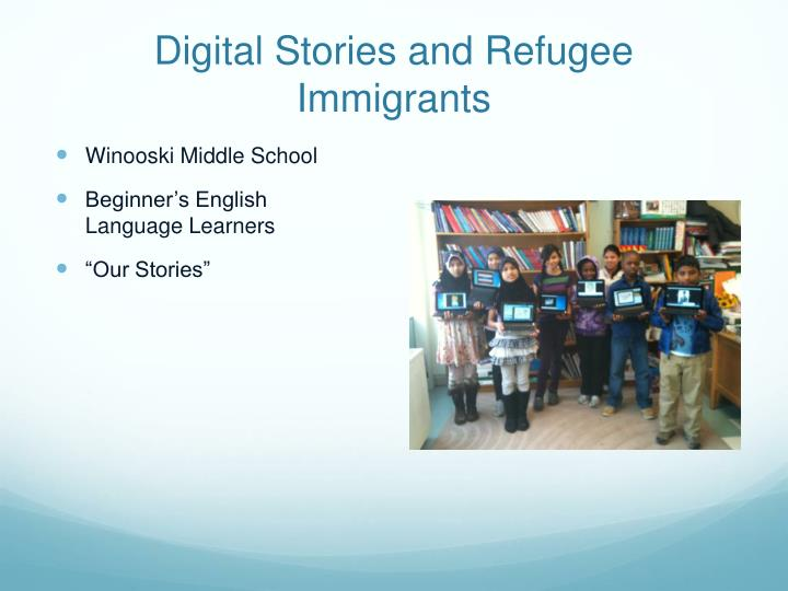 digital stories and refugee immigrants n.