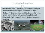 d c baseball stadiums