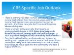 crs specific job outlook