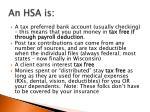 an hsa is
