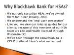 why blackhawk bank for hsas