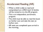 accelerated reading ar