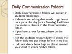 daily communication folders