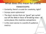 what does this mean for online newsrooms