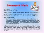 homework hints