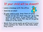 if your child will be absent