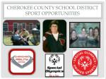 cherokee county school district sport opportunities