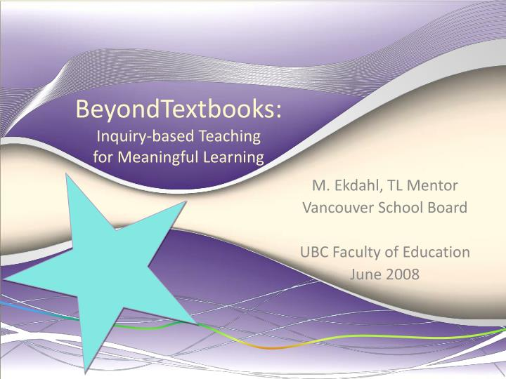 beyondtextbooks inquiry based teaching for meaningful learning n.