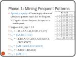 phase 1 mining frequent patterns1