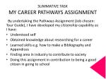 summative task my career pathways assignment1
