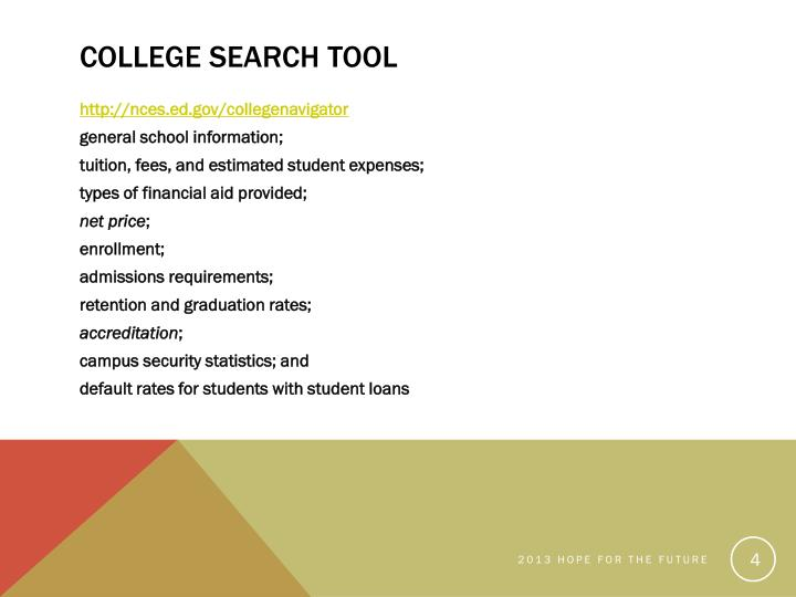 College Search Tool