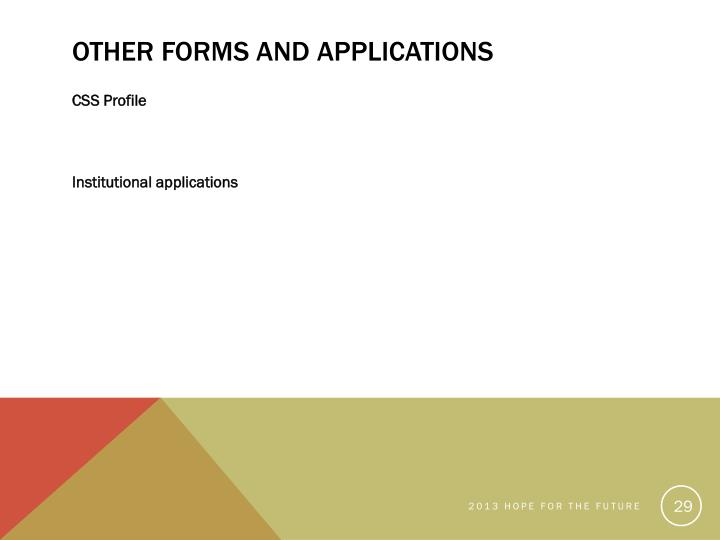 Other Forms and Applications