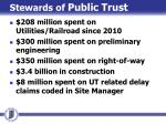 stewards of public trust
