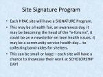 site signature program