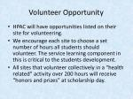 volunteer opportunity