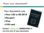 know your documents