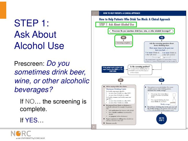 how to ask patients about alcohol use