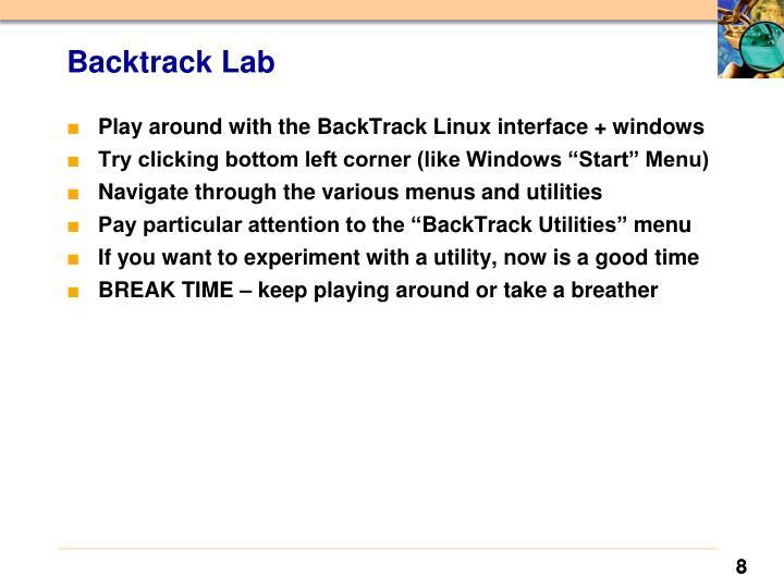 Backtrack Lab