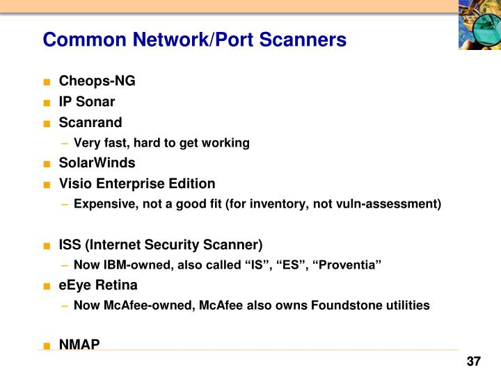 Common Network/Port Scanners