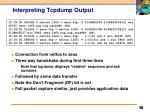 interpreting tcpdump output