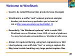 welcome to wireshark