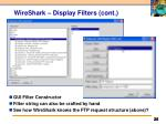 wireshark display filters cont