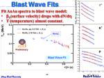 blast wave fits