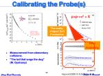 calibrating the probe s