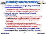 intensity interferometry