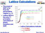 lattice calculations