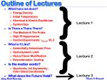 outline of lectures