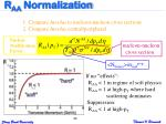 r aa normalization