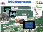 rhic experiments