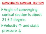 converging conical section