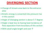 diverging section